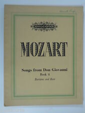 MOZART songs from don giovanni , baritone / bass