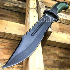 "13"" TACTICAL SURVIVAL Rambo Hunting FIXED BLADE KNIFE Army Bowie w/ SHEATH"