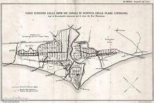 Roma: Plaga Litoranea: Canali di Bonifica: Arrone e Tor Paterno.Foce Tevere.1894