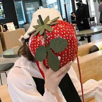 Strawberry Shoulder Messenger Handbag PU Leather Women Casual Mini Crossbody Bag