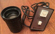 Vintage Bell & Howell Slide Cube Projector Spares - Wired Remote Control & Lens