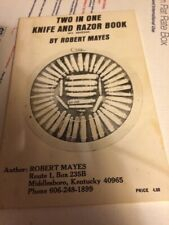 TWO IN ONE KNIFE AND RAZOR BOOK by Robert Mayes knife Price Guide