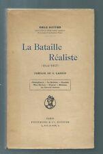 75657 - BOUVIER Emile; La bataille réaliste (1844-1857); Champfleury; La bohème;