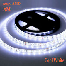 LED Strip 5050 SMD 5M Cool White 60Led/M 300 Leds Flexible Non-Waterproof DC 12V
