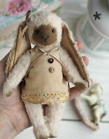 "OOAK Artist vintage style teddy bear bunny 6"""