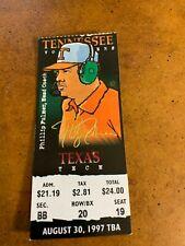 1997 Tennessee Vols v Texas Tech Red Raiders Football Ticket Peyton Manning