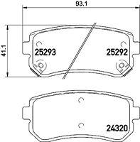 Mintex Rear Brake Pad Set MDB3232  - BRAND NEW - GENUINE - 5 YEAR WARRANTY