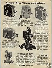 1955 PAPER AD Ansco 35MM Super Super Regent Memar Keystone Movie Camera