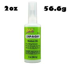 Zap-a-gap cyano medium ca + viscosité super colle 2oz (56,6 g) PT01 (vert)