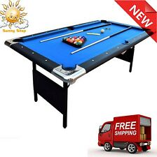 Blue Fairmont 6-ft Portable Folding Pool Table W /carrying Case