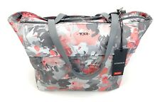 """Tumi Large M-Tote Business Bag Fits 15"""" Laptop Gray Pink Floral Print"""