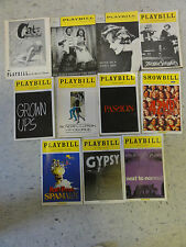 1 from 11 Playbill 1956-2009,GROWN UPS,PASSION,SPAMALOT,GYPSY,CATS OH A HOT TIN