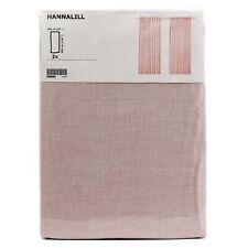IKEA HANNALILL Gardine Gardinenpaar in rosa 145x300 cm Vorhang Gardinenschals