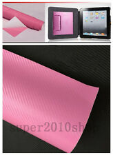 3D Car Accessories/phone Interior Panel pink Carbon Fiber Vinyl Wrap Sticker