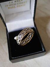 Gents 9 Carat celtique mariage / robe ring fabriquées au Royaume-Uni par B&N brand new in box