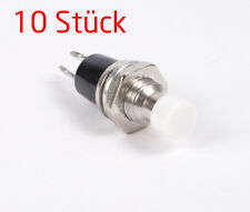 10 Stück Miniatur Taster weiß Drucktaster Druckschalter Schließer 7mm [#1205]