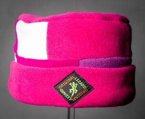 Pink Patchwork Porkpie Fleece Hat by Original Lizard