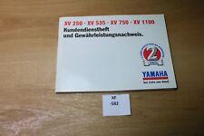 Yamaha XV1100 XV750 XV535 XV250  Kundendienstheft Scheckheft xf582