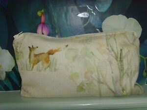 28cm x 16cm VOYAGE SHERWOOD FOREST  FOX  CLUTCH POUCH PURSE COSMETIC BAG ZIPPED