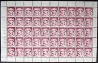 s1) Finnland Probedruck Finland SNELLMAN 1950´s proof test stamp** cpl sheet red
