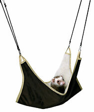Brown & Beige Soft Cuddly Hammock for Rats Degus Ferrets 45cm