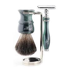 Traditional Wet Shaver Kit | Home Salon Tools Safety Razor & Shaving Brush Stand