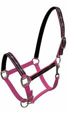 PINK Nylon Horse Halter With Barbwire Design Overlay! NEW HORSE TACK!!!