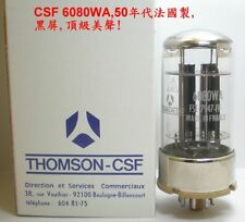 CSF 6080WA= 6AS7G =Chinese 6N5PJ, TUBE,VALVE french made,one of the best!4 PCS!
