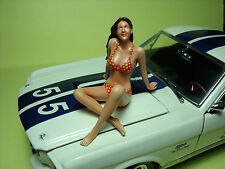FIGURINE  1/18  MISS  SHELBY  VROOM   A  PEINDRE   FOR   AMERICAN  MUSCLE  CARS