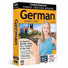 Instant Immersion Family Edition Deluxe German Levels 1 2 3 PC/Mac/Tablet 81400