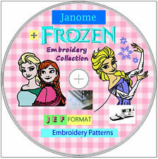 140,000 JEF JANOME Format FROZEN Embroidery Designs FREE Software 1st class 026