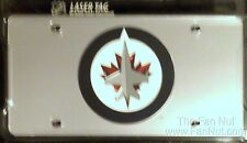 Winnipeg Jets SILVER Laser Cut Etch Mirrored License Plate Tag NHL Hockey