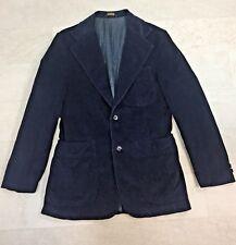 Levi's Panatela Mens Blazer 38R Navy Blue Corduroy Vtg Disco 2-Button Sport Coat