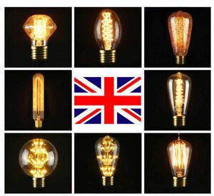 E27 40W Edison Industrial Style Vintage Retro Filament Light Bulb Lamp 220V