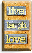 LIVE LAUGH LOVE RUSTIC WOOD LOOK LIGHT SIMMER CABLE WALL PLATE COVER ROOM DECOR