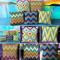 Retro Wave Stripe Cushion Cover Square Throw Pillow Case For Car Sofa Home Decor