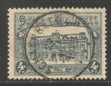Belgium #Q177 (Pp15) Vf Used - 1929 4fr Central Post Office, Brussels