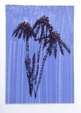 Flowers Original Painting With Machine Embroidery Gift Card