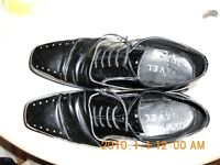 A pair of size8black,patent leather,'RAVEL' square toe,shoes great condition.
