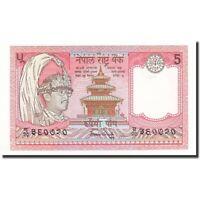 Billets, Népal, 5 Rupees, Undated (1987), KM:30a, NEUF #165559