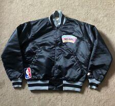 Vintage STARTER NBA San Antonio Spurs Satin Nylon Jacket Bomber Black MEDIUM