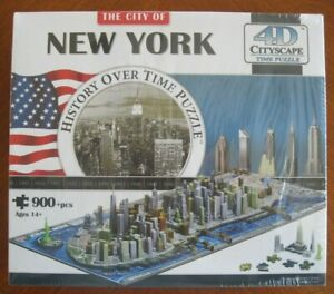 City of New York 4D Cityscape Puzzle History Over Time 900+ Pieces. NISB