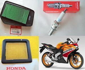 Honda CBR125 R GENUINE Air Filter + Spark Plug + Oil Screen Filter 2011 - 2020