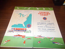 1958 Texaco Cruising Chart Atlantic Coast Cape May to Cape Henry Vintage Map