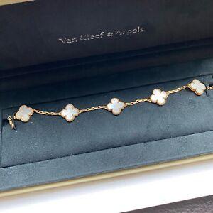 Authentic Van Cleef & Arpels Vintage Alhambra bracelet, 5 motifs
