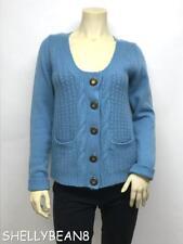 LEIFSDOTTIR Anthropologie 100% CASHMERE CARDIGAN Sweater L Fits M S $358 SKYAQUA