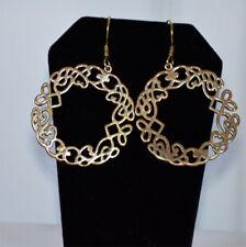 Gold Tone Hoop Earrings Handmade Fashion Jewelry from India