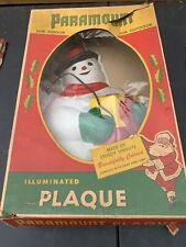 Vintage Christmas Retro Snowman Wall Hanging Plaque  Vineylite