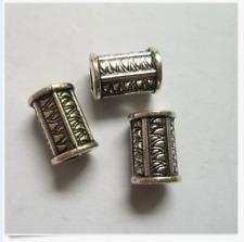 15pcs Tibetan silver big hole flowe spacer beads 9x13mm