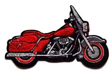 Red Motorbike patch custom classic Embroidered Iron Sew On Biker Motorcycle